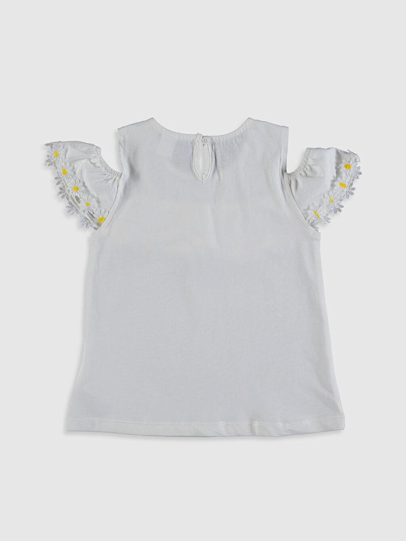 %100 Pamuk Standart Düz Kısa Kol Tişört Bisiklet Yaka Kız Bebek Pamuklu Tişört