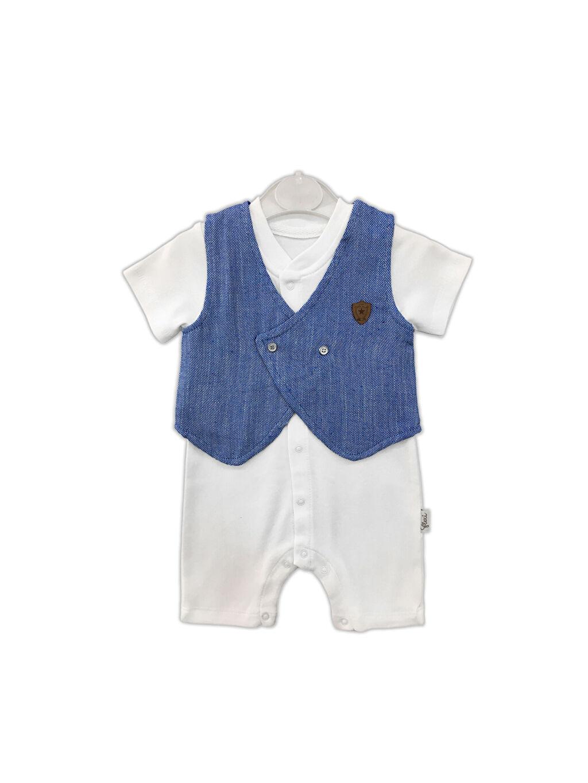 Mavi By Leyal For Kids Erkek Bebek Pamuklu Tulum 0SAO17Z1 LC Waikiki