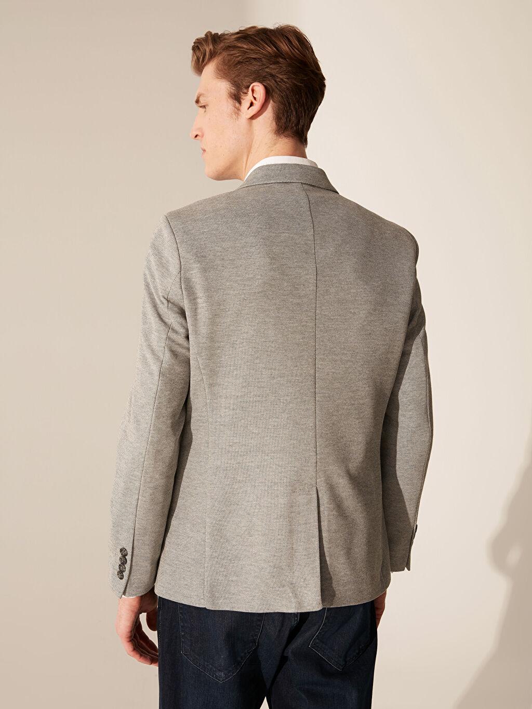%10 Pamuk %90 Polyester Dar Kalıp Blazer Ceket