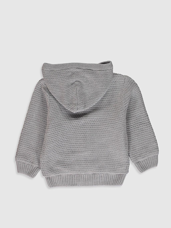 %100 Akrilik %100 Polyester Hırka Kapüşonlu Uzun Kol Düz Orta Kalınlık Erkek Çocuk Triko Hırka