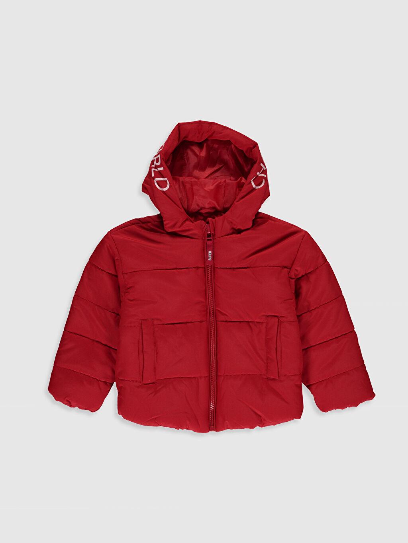 Kırmızı Kız Çocuk Kapüşonlu Mont 0W0334Z4 LC Waikiki
