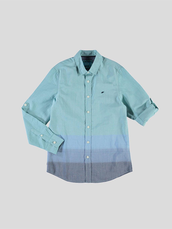 Mavi Mavi Düz Dar Uzun Kollu Gömlek 6Y0871Z6 LC Waikiki