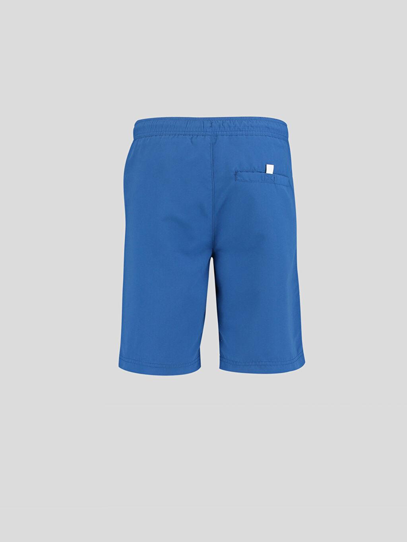 %100 Polyester %100 Polyester  Mavi Yüzme Şortu