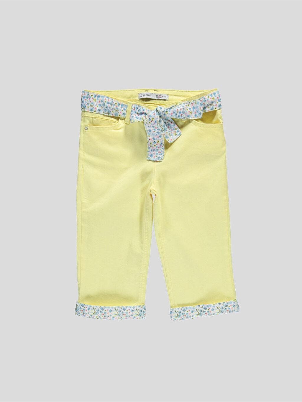 Sarı Sarı Normal Bel Capri 6Y7468Z6 LC Waikiki