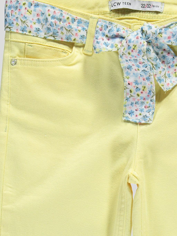 Genç Kız Sarı Normal Bel Capri