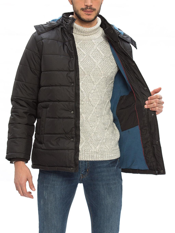 %100 Polyester %100 Polyester Standart Orta Mont Orta Siyah Şişme Mont