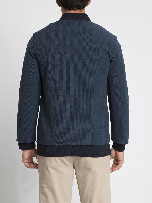 %48 Polyester %21 Viskoz %31 Akrilik Uzun Kol Tişört Düz Polo Petrol Düz Uzun Kollu Polo Tişört