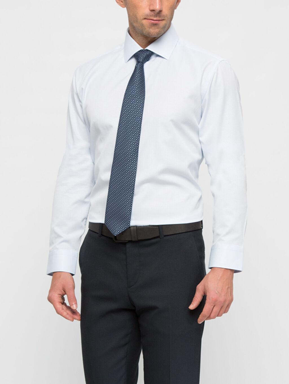 Mavi Mavi Düz Dar Uzun Kollu Gömlek 6K2961Z8 LC Waikiki