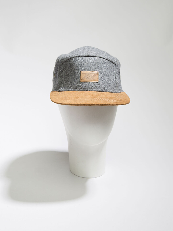 %2 Pamuk %58 Polyester %27 Yün %3 Viskoz %10 Akrilik Şapka Gri Şapka