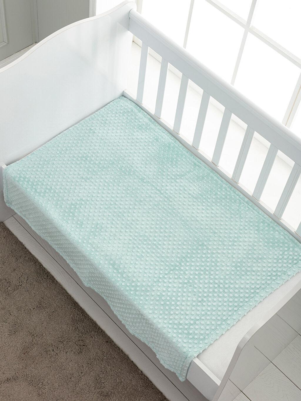 %100 Polyester Bebek Battaniye Erkek Bebek Kalın Pelüş Battaniye