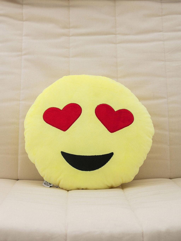 %100 Polyester Dolgulu Kırlent Emoji Kırlent