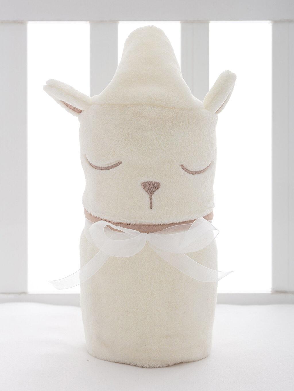 %100 Polyester Nakışlı Bebek Battaniye