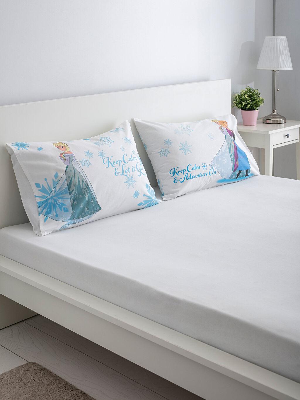 Mavi Frozen Lisanslı Yastık Kılıfı 2'li 9SI795Z4 LC Waikiki