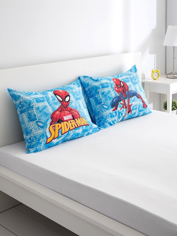 Çok Renkli Spiderman Lisanslı Yastık Kılıfı 2'li 9SI809Z4 LC Waikiki