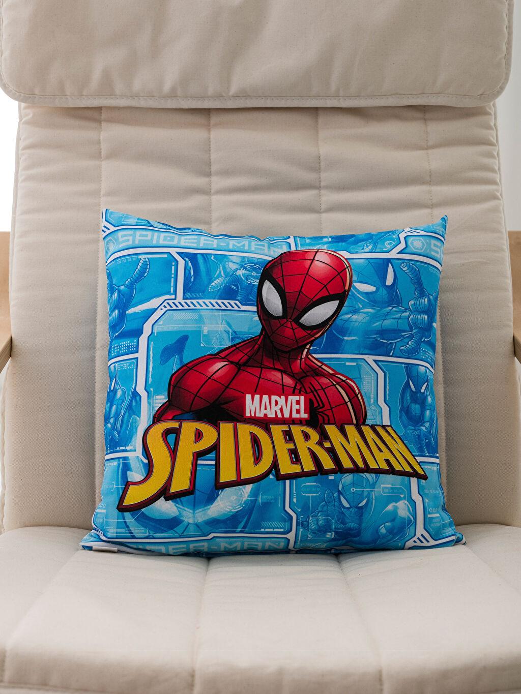 %100 Polyester Dolgulu Kırlent Spiderman Lisanslı Kırlent