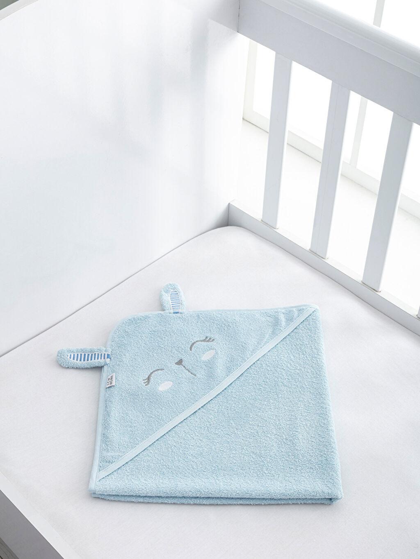 Mavi Bebek Nakışlı Banyo Havlusu 9WI093Z1 LC Waikiki