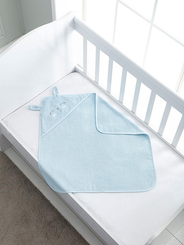 %100 Pamuk  Bebek Nakışlı Banyo Havlusu