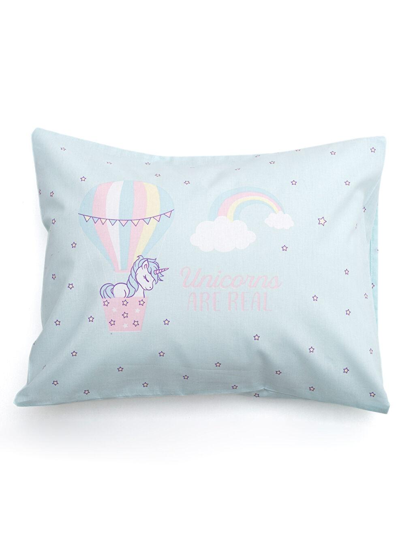 %100 Pamuk  Unicorn Baskılı Bebek Yastık Kılıfı 2'li