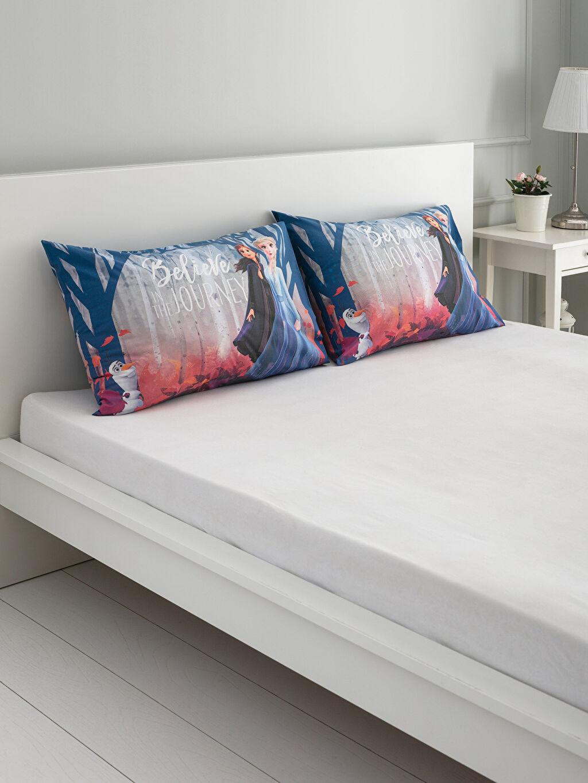 Mavi Frozen Lisanslı Yastık Kılıfı 2'li 9WI637Z4 LC Waikiki