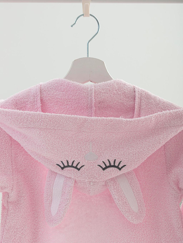 %100 Pamuk  Kız Çocuk Kapüşonlu Bornoz