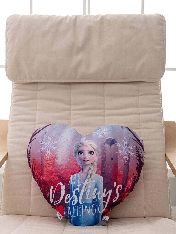 %100 Polyester  Elsa Lisanslı Kalp Kırlent