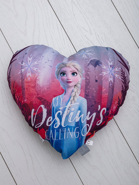 Elsa Lisanslı Kalp Kırlent