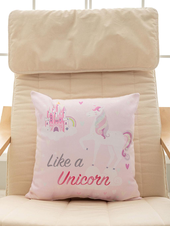 %100 Polyester Unicorn Baskılı Kırlent