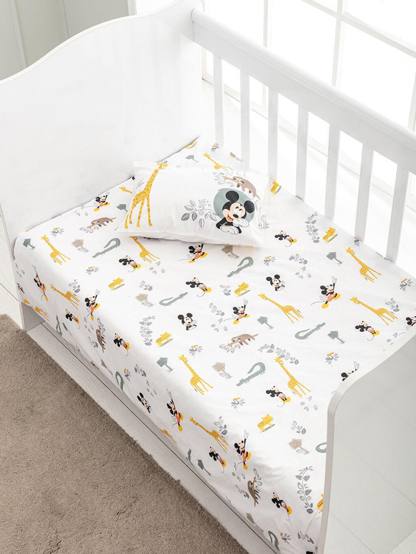 %100 Pamuk Bebek Nevresim Mickey Mouse Lisanslı Bebek Nevresim Takımı