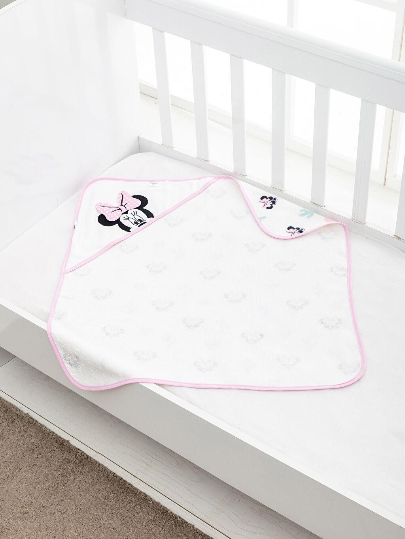 %100 Pamuk  Minnie Mouse Lisanslı Banyo Havlusu