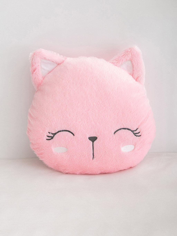 %100 Polyester  Pelüş Kedi Kırlent