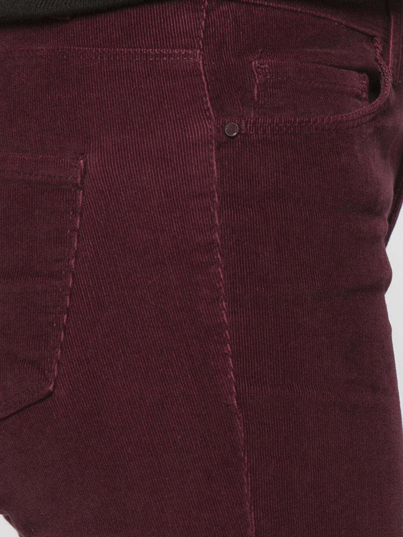 %98 Pamuk %2 Elastan Bordo Yüksek Bel Esnek LCWAIKIKI Basic Pantolon