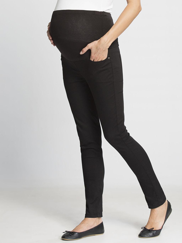 Siyah Siyah Hamile Pantolon 6K1316Z8 LC Waikiki