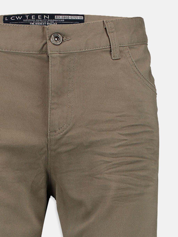 Genç Erkek Haki Dar Pantolon