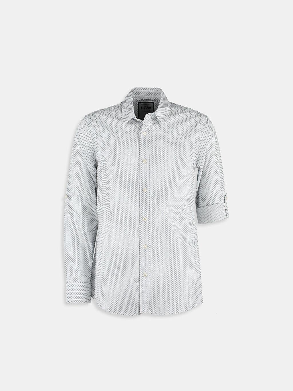 Beyaz Beyaz Dar Uzun Kollu LCW Young Gömlek 6K1608Z6 LC Waikiki