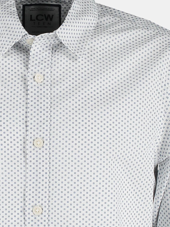 Erkek Beyaz Dar Uzun Kollu LCW Young Gömlek