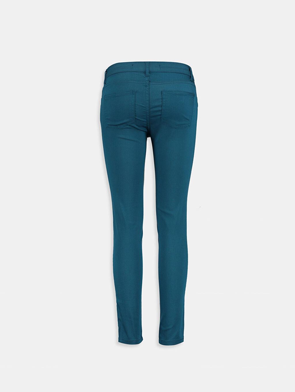 %67 Pamuk %28 Polyester %5 Elastan Dar Petrol Dar LCW Young Pantolon