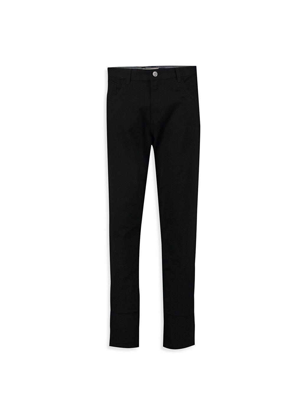 Siyah Siyah Normal Pantolon 6K2419Z6 LC Waikiki