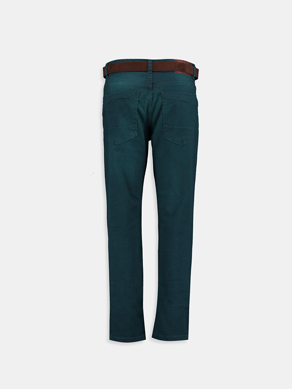 %98 Pamuk %2 Elastan  Yeşil Jean