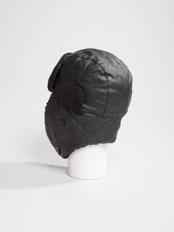 %100 Poliüretan %100 Polyester Şapka Siyah Şapka