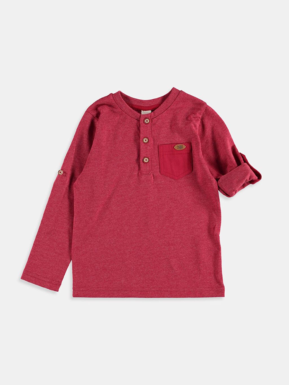 Kırmızı Kırmızı Düz Tişört 6K3952Z4 LC Waikiki