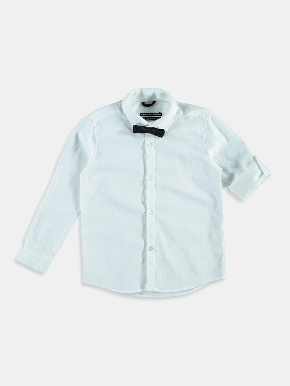 %100 Pamuk %52 Pamuk %48 Polyester Standart Uzun Kol Düz Beyaz Düz Uzun Kollu Gömlek