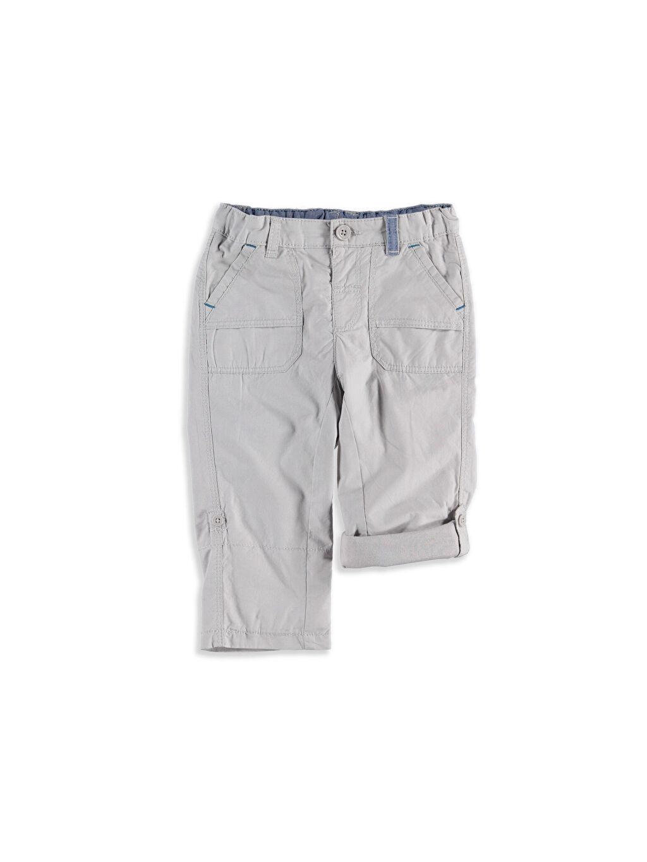 %100 Pamuk %100 Pamuk Normal Gri Normal İçi Polarlı Pantolon