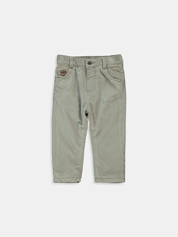 Bej Erkek Bebek Kadife Pantolon 6K3348Z1 LC Waikiki
