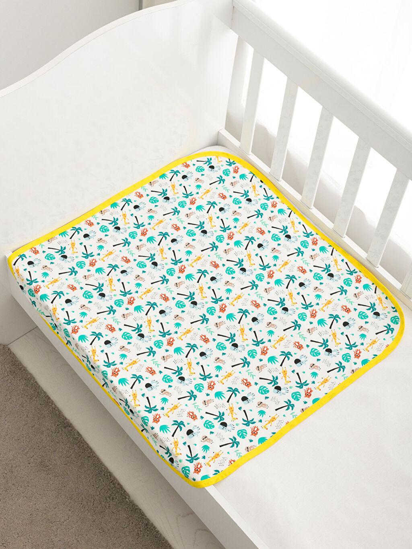 %100 Pamuk Desenli Bebek Battaniye Erkek Bebek Desenli Battaniye