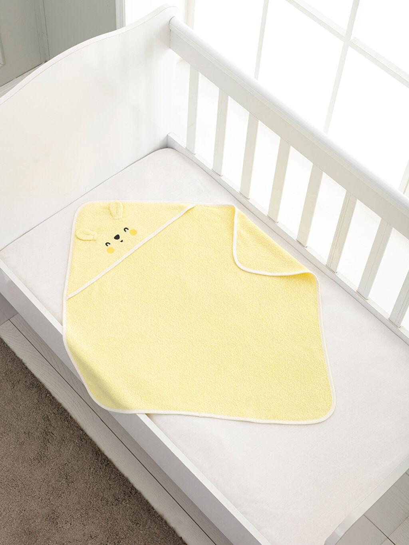 %100 Pamuk Bebek Havlu Bebek Banyo Havlusu