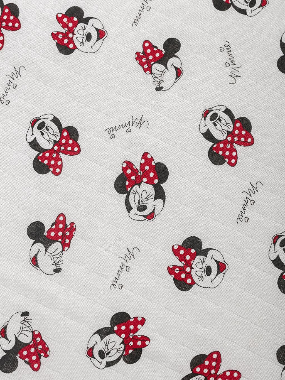 Kız Bebek Kız Bebek Minnie Mouse Baskılı Müslin Bez