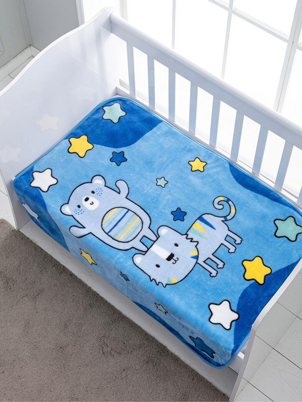 %100 Polyester Desenli Bebek Battaniye Pelüş Bebek Battaniye