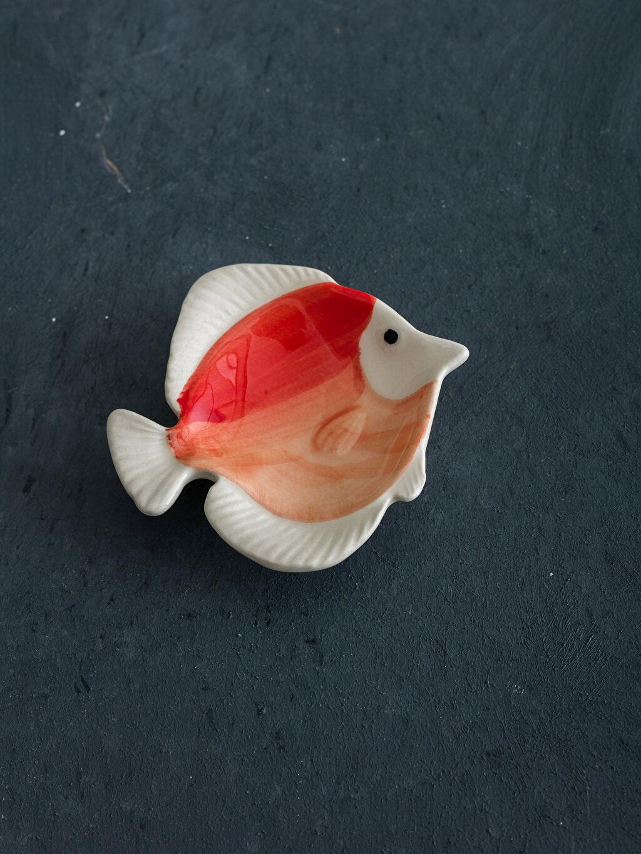 Turuncu Balık Figürlü Seramik Tabak 9S3321Z8 LC Waikiki