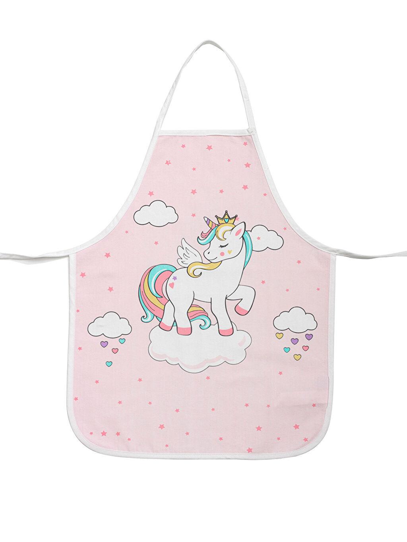 %100 Pamuk  Unicorn Baskılı Mutfak Önlüğü