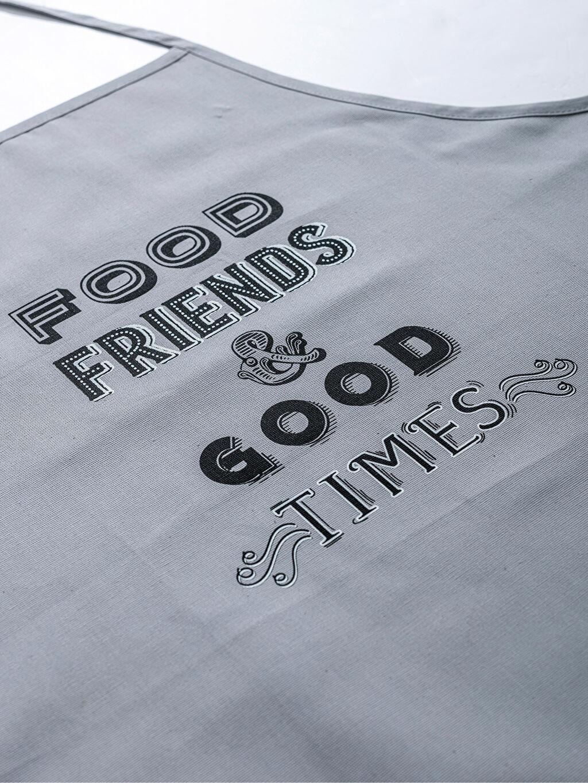 Slogan Baskılı Gabardin Mutfak Önlüğü
